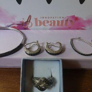 Jewelry - Huge black and white diamond jewelry bundle